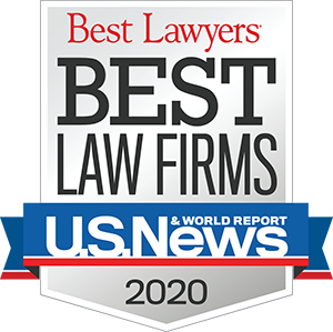 Best Lawyers - U.S. News' 2020 Best Law Firms in America Award badge