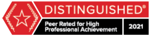 Martindale BV Distinguished Peer Rated Lawyer since 2016