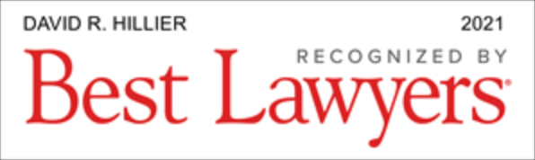 Dave Hillier Best Lawyers in America 2021 badge