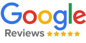 Graphic image of the client review badge provided by Google used in the review section of the firm's website.