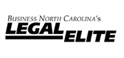 This is the logo used by attorneys selected to Business North Carolina Legal Elite to portray their award.