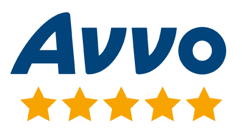 Graphic image of the client review badge provided by Avvo used in the review section of the firm's website.