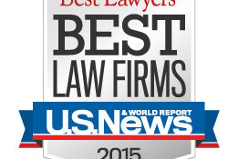 Graphic image of the Best Law Firms 2015 Badge provided by US News/Best Lawyers for the firm's inclusion as a Best Law Firm for Family Law and Bankruptcy.