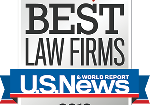Graphic image of the Best Law Firms 2016 Badge provided by US News/Best Lawyers for the firm's inclusion as a Best Law Firm for Family Law and Bankruptcy.