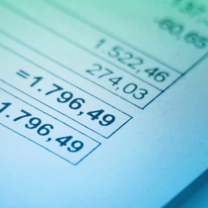 Image of the bottom right corner of an invoice showing an amount due.