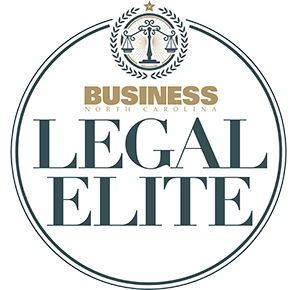 Graphic logo for Business NC's Legal Elite announced annually in January