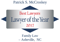 Graphic image of Patric McCroskey's Best Lawyers in America, Lawyer of the Year Award badge for 2017.