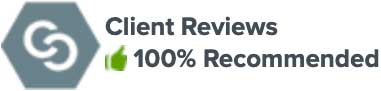 Graphic image of the client review badge provided by Martindale Hubbell used in the review section of the firm's website.